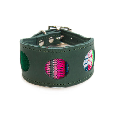 Hiro + Wolf Inca Holly Green Hound Collar