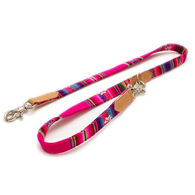 Hiro + Wolf Inca Pink Cafe Dog Lead