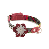 Hiro + Wolf Reflective Flower Dog Accessories with Red Petals