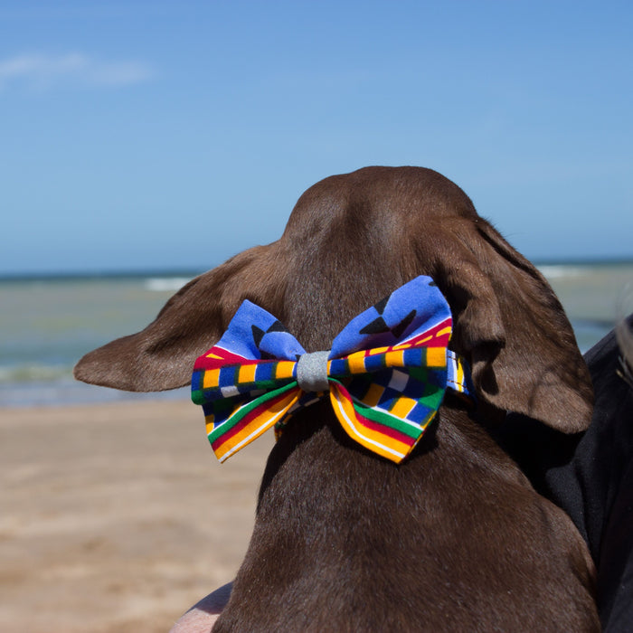 Kente Dog Bow Tie