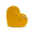 Poo Pouch Heart 'Yellow Leather'