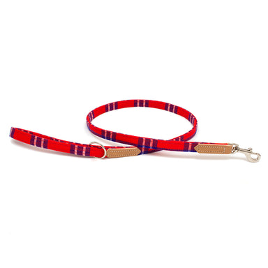 Shuka Red Skinny Classic Dog Lead