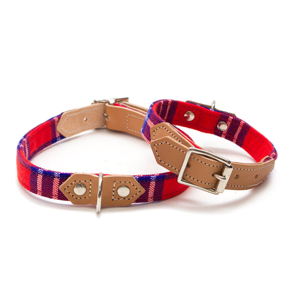 Shuka Red Dog Collar