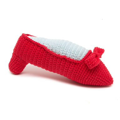 Ruby Slipper Squeaky Dog Toy