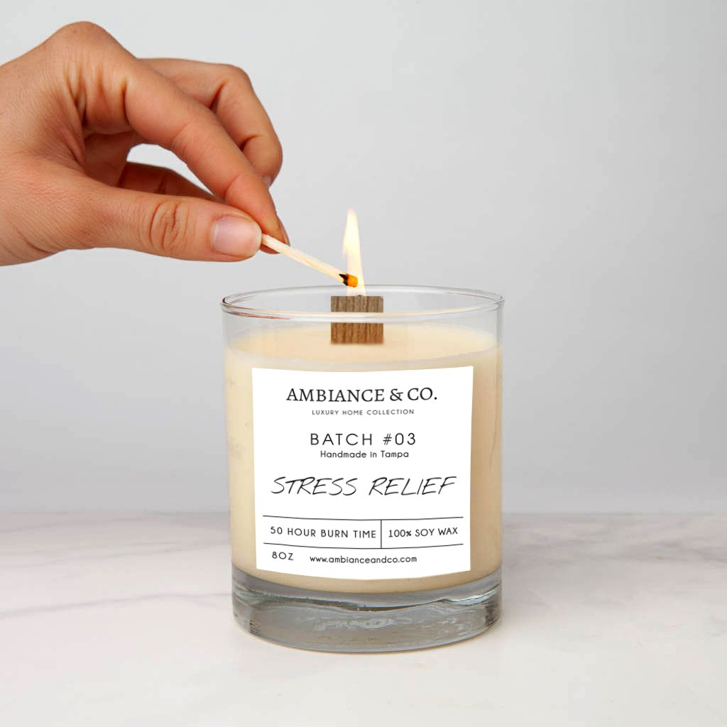 Stress Relief Smoke Odor Eliminator Candle