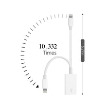 Load image into Gallery viewer, FA-STAR USB Camera Adapter, USB Female OTG Data Sync Cable Compatible with iPhone X 8 7 6 Plus iPad Air Pro Mini, Support Card Reader, MIDI Interface, Hubs - White