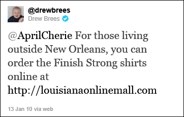 Drew Brees Finish Strong t-shirt