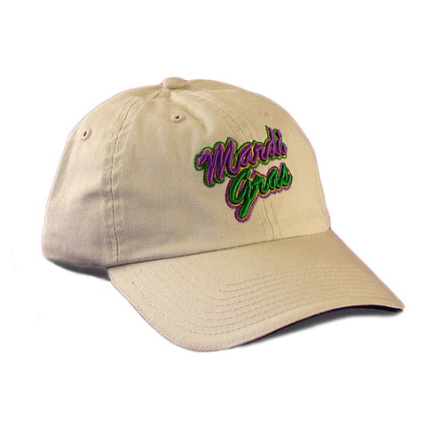 Embroidered Mardi Gras Stone Cap
