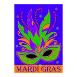 Double Applique Mardi Gras Mask Flag (Large or Garden Size)