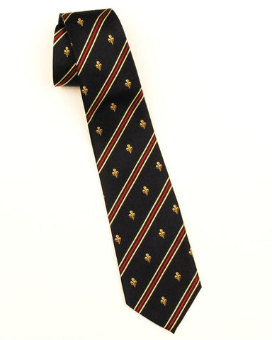Fleur-de-Lis with Stripes Tie (Navy)