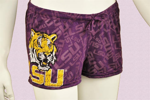 LSU Ladies Semi-Sheer Burnout Shorts
