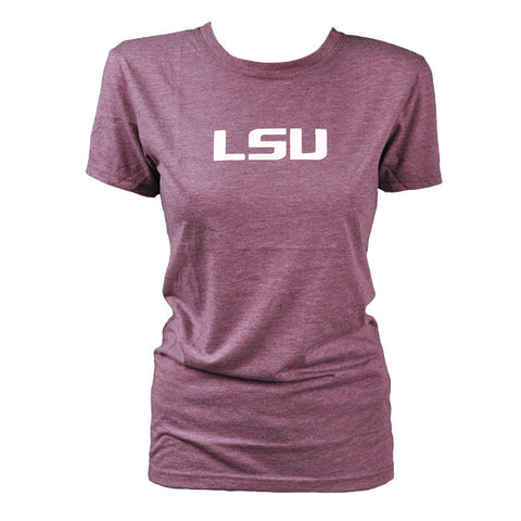 LSU Heather Purple Ladies Tee