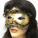 Mardi Gras Lace Trim Mask