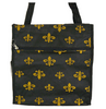 Black & Gold Fleur de Lis Tote Bag (5 separate compartments)