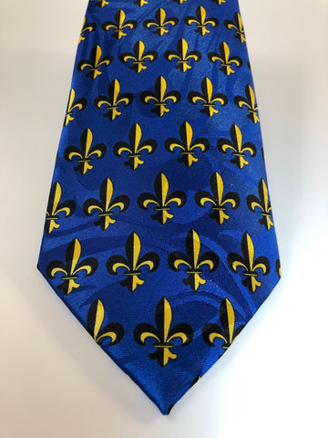 Men's Fleur-de-Lis Tie in Royal Blue  (Stephen Harris)