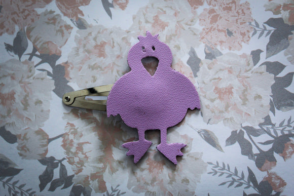 Purple Dixie Easter Chick Clip