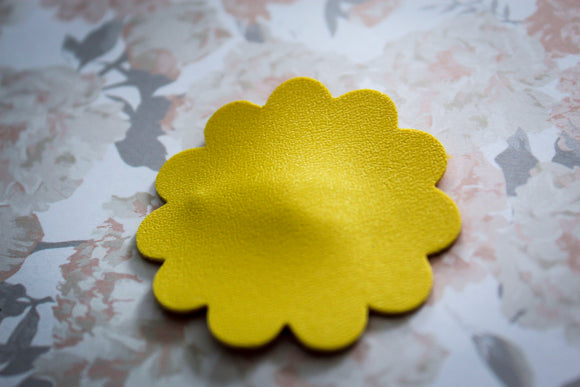 Simple Yellow Flower Easter Clip