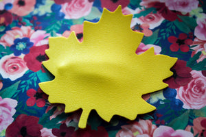 Bold Yellow Maple Leaf Easter Clip