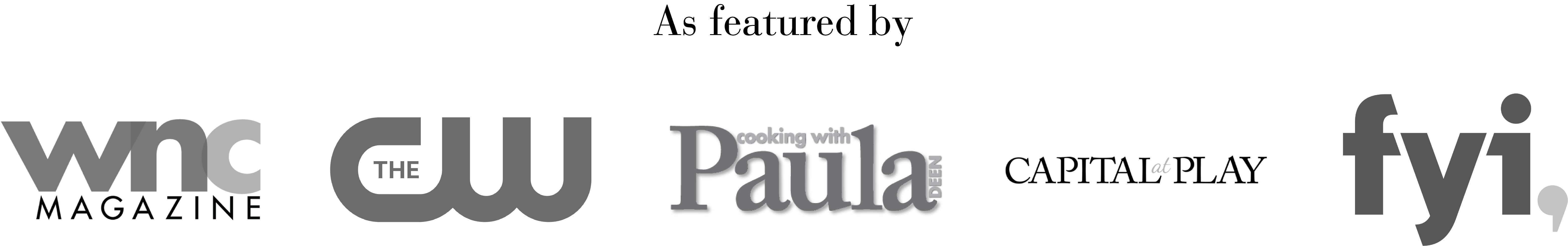 image of WNC magazine logo cooking with paula deen logo cw logo capital at play logo fyi channel logo