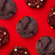 Red Wine Dark Chocolate cookies with Red velvet cookies