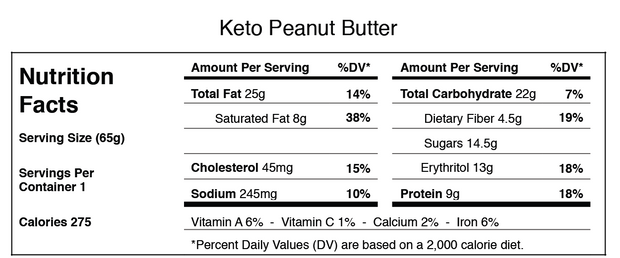 Keto Peanut Butter (Eighteen)