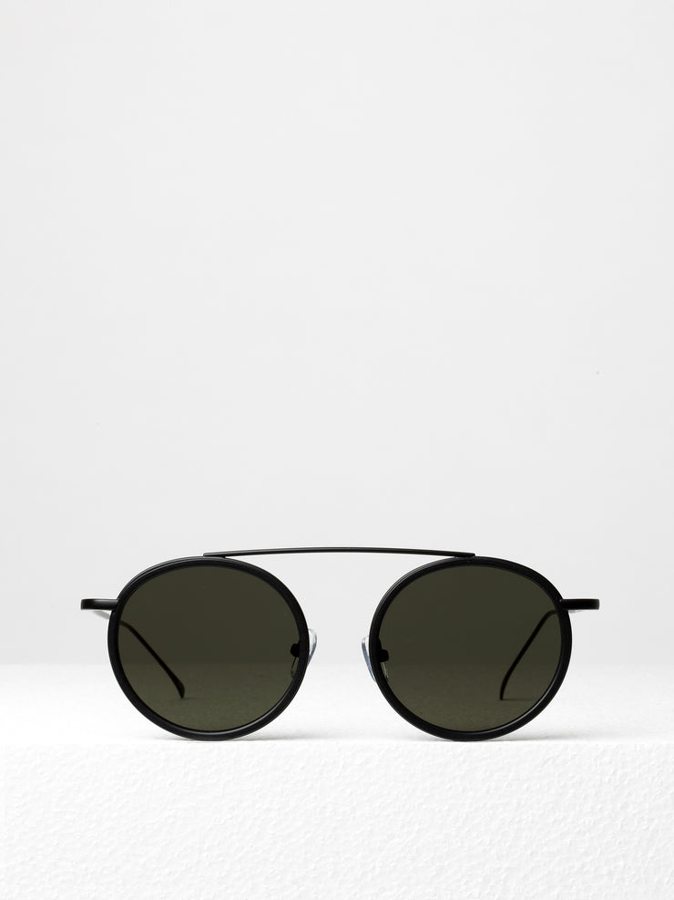 Illesteva / Kingston / Matte Black With Grey Flat Lenses - I Visionari