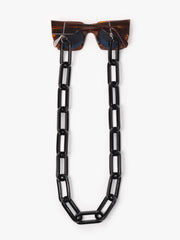 I Visionari / Oversize Resin Glasses Chain / Black - I Visionari