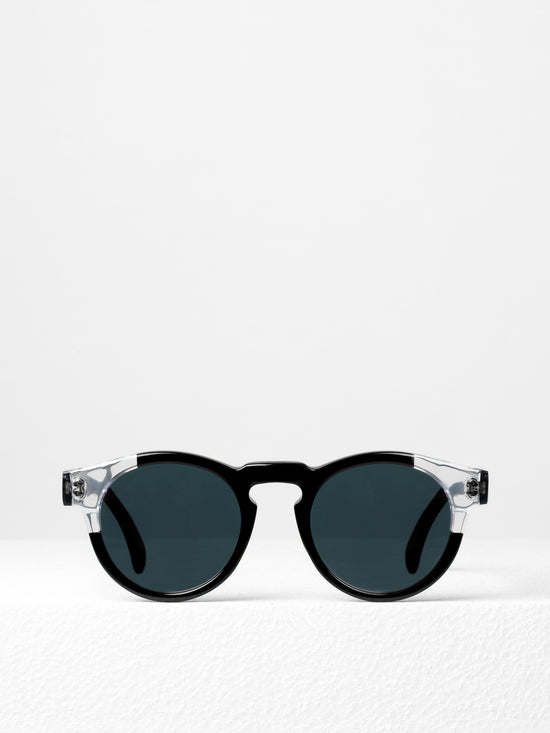 Illesteva / Leonard / Split Black With Rose Mirrored Lenses - I Visionari