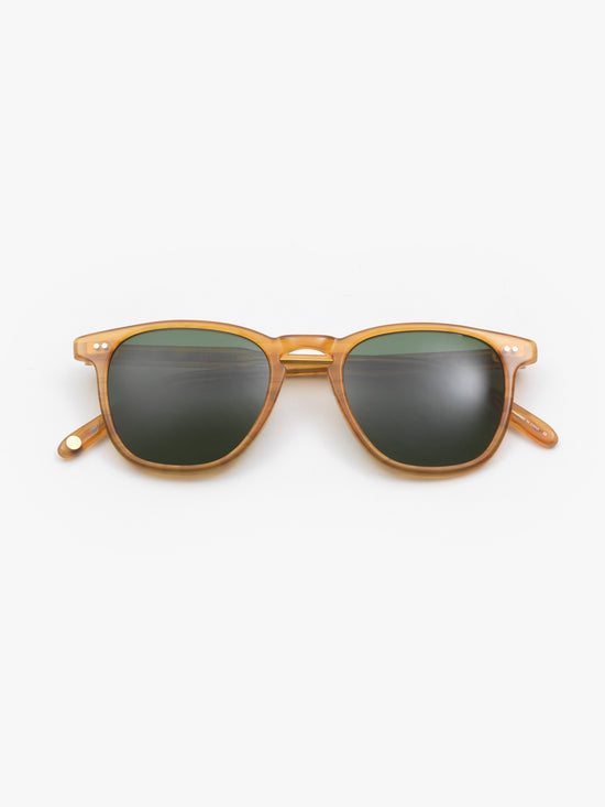 Garrett Leight / Brooks / Butterscotch With Green Polarized Glass - I Visionari