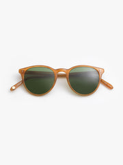 Garrett Leight / Milwood / Butterscotch With Pure Green Glass - I Visionari