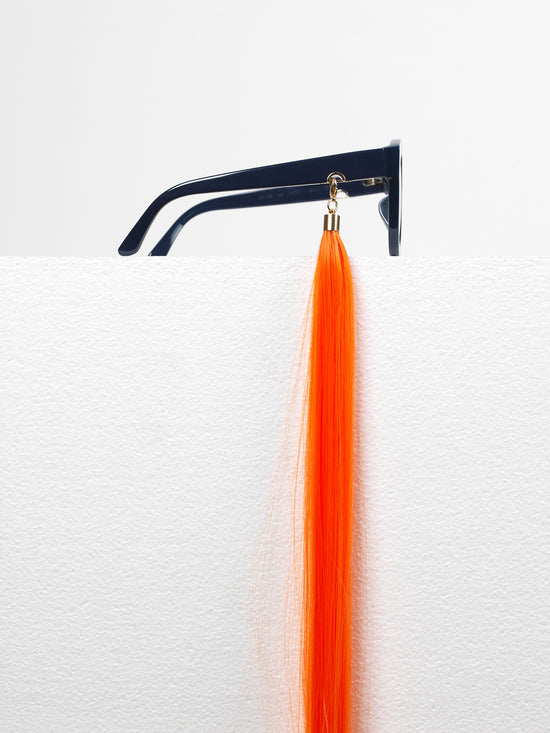 Huma / Earring Straight Hair / Orange - I Visionari