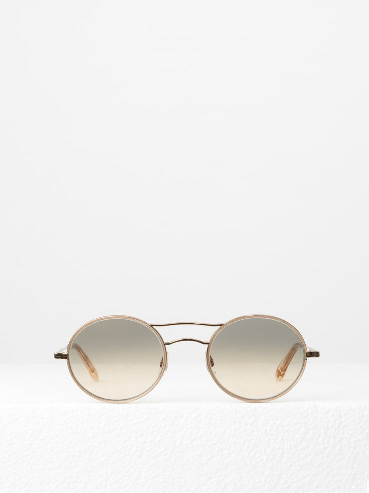 Garrett Leight / Sanborn / Supernova Rose Gold With Semi Flat Pink Haze Mirror - I Visionari