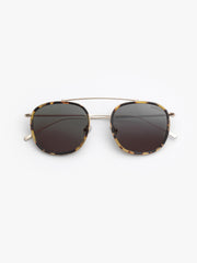 Illesteva / Mykonos Ace / Tortoise Gold With Grey Flat Lenses - I Visionari