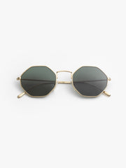 Illesteva / Broome / Gold With Olive Flat Lenses - I Visionari