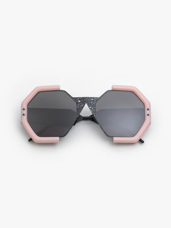 SO.YA / Mam / Matte Black White Drop Matte Pink