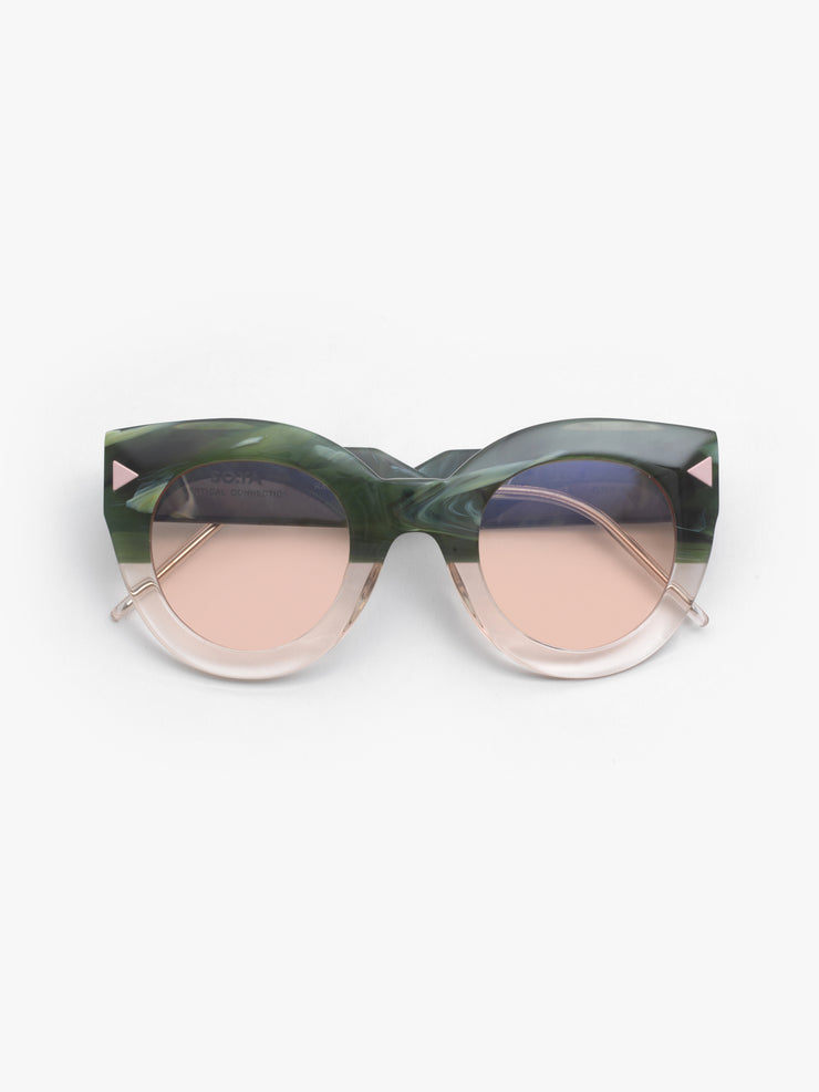 SO.YA / Alma / Green Marble Transparent Pink