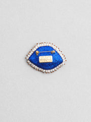 Céleste Mogador / Baroque Eye Brooch / White and Blue