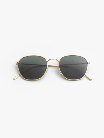 Illesteva / Prince / Gold With Olive Flat Lenses