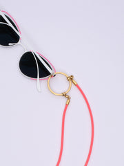 LA LOOP / Stretch Cord / Neon Orange with Gold Plated Loop
