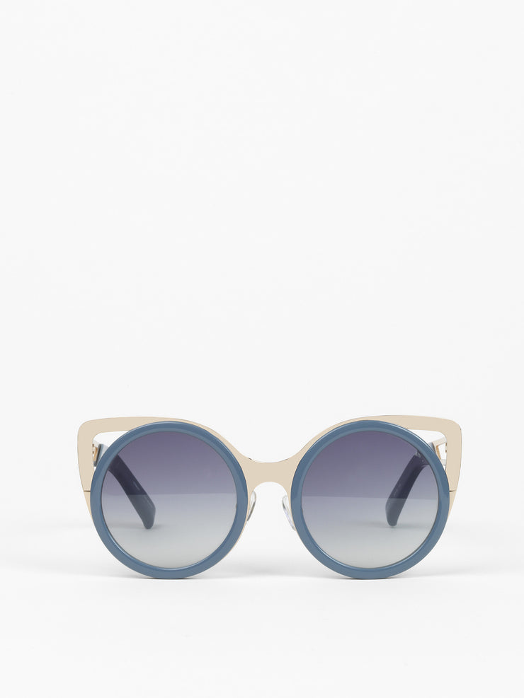 Erdem by Linda Farrow / Playful Cat Eye Sunglasses  / Slate Blue - I Visionari