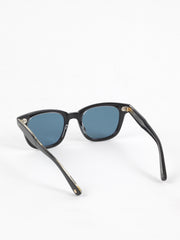 Garrett Leight / Calabar / Black Laminate Crystal With Semi Flat Blue Smoke - I Visionari