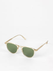 Garrett Leight / Hampton / Champagne With Pure Green Glass - I Visionari