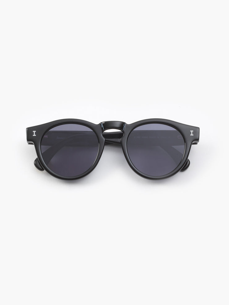 Illesteva / Leonard / Black With Grey Flat Lenses - I Visionari