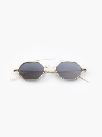 lllesteva / Lola / Gold With Grey Flat Lenses