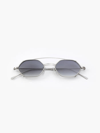 lllesteva / Lola / Matte Silver With Grey Gradient Lenses