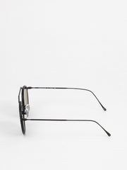 Illesteva / Winwood Ace / Matte Black With Grey Flat Lenses - I Visionari