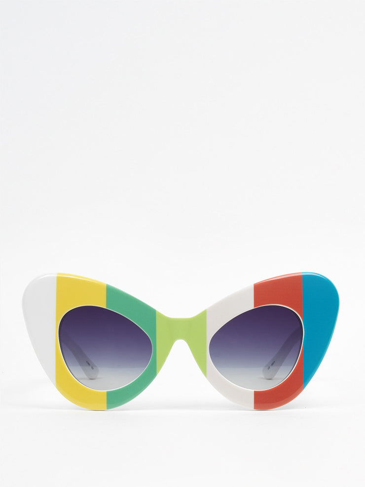 Jeremy Scott by Linda Farrow / Cat eye / Multicolor - I Visionari