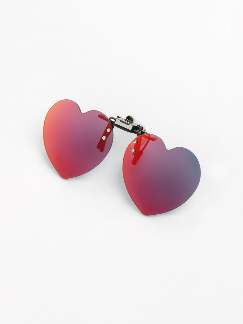 Julian Zigerli x Lunettes Kollektion / Heart Clip On / Red - I Visionari