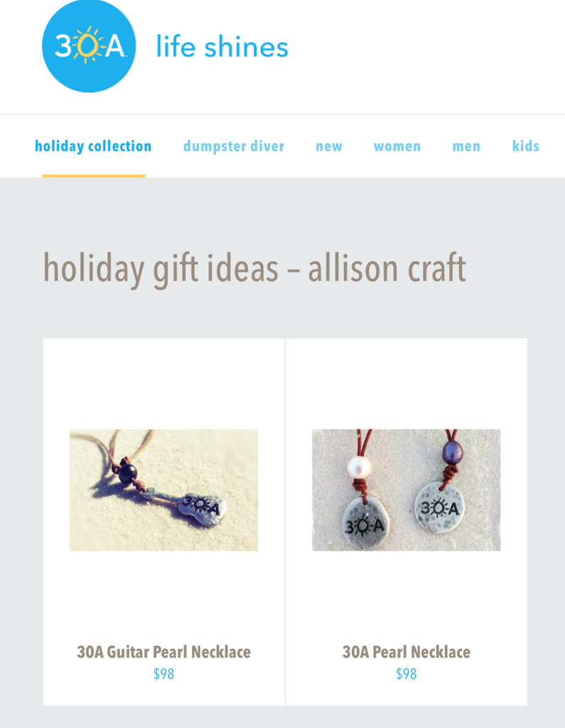 30A Gift Ideas Feature Allison Craft Designs- the Official