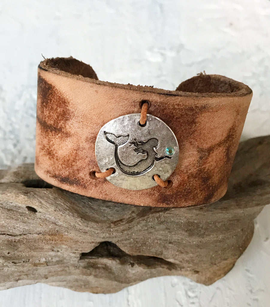 Grayton Pearl Co. Cuff | Allison Craft Designs Pearl and Leather